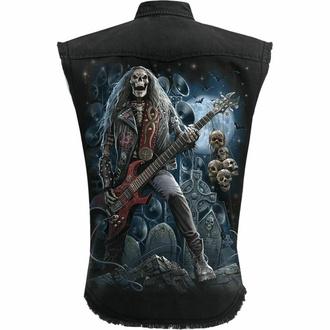 košile pánská bez rukávů (vesta) SPIRAL - GRIM ROCKER - Black, SPIRAL