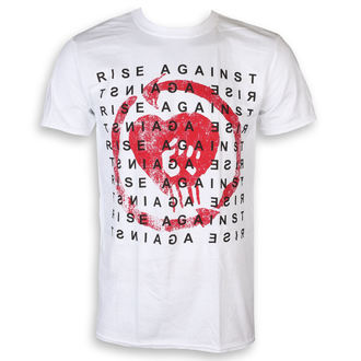 tričko pánské Rise Against - Block - White - KINGS ROAD, KINGS ROAD, Rise Against