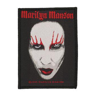 nášivka MARILYN MANSON - FACE - RAZAMATAZ, RAZAMATAZ, Marilyn Manson