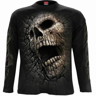 tričko pánské s dlouhým rukávem SPIRAL - CRACKING UP - Black, SPIRAL