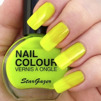 lak na nehty STAR GAZER - Neon Yellow, STAR GAZER