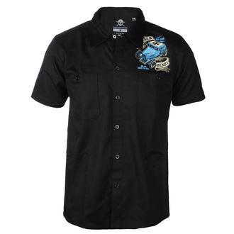 košile pánská BLACK HEART - BH BRUISER - BLACK, BLACK HEART