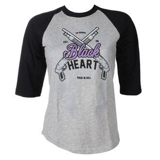 tričko dámské BLACK HEART - BH SHOT GUN - GREY, BLACK HEART