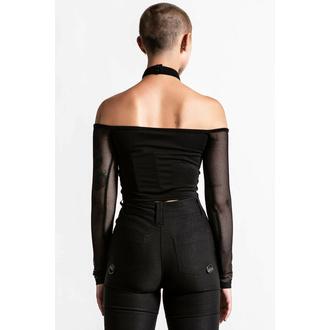 tričko dámské s dlouhým rukávem KILLSTAR - Nightcall Fishnet - Black, KILLSTAR