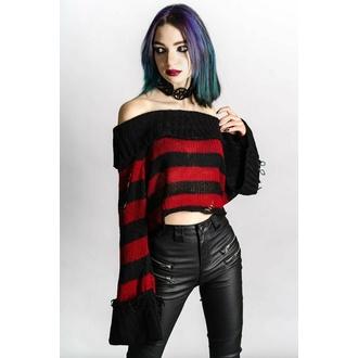 svetr dámský KILLSTAR - Nightmare Knit - Black/Blood - KSRA004134