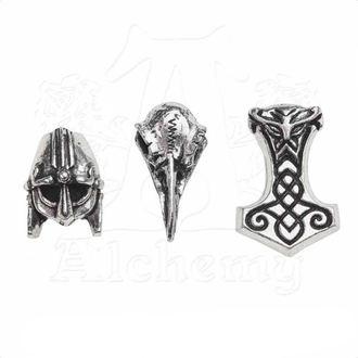 korálky (3ks) na vlasy (vousy) ALCHEMY GOTHIC - Norsebraid, ALCHEMY GOTHIC