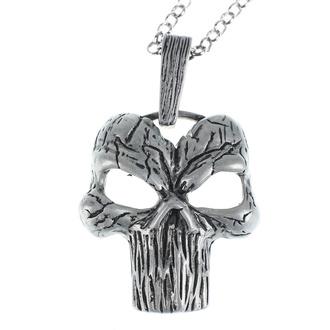 obojek Skull, Leather & Steel Fashion