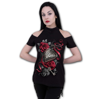 tričko dámské SPIRAL - HEART LOCKET - Halter - D092F764
