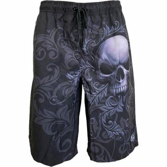 kraťasy pánské (plavky) SPIRAL - SKULL SCROLL - Black, SPIRAL