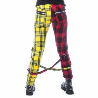 kalhoty dámské CHEMICAL BLACK - ORDELIA - RED/YELLOW TARTAN, CHEMICAL BLACK