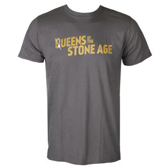 tričko pánské QUEENS OF THE STONE AGE - TEXT LOGO (METALLIC) - PLASTIC HEAD, PLASTIC HEAD, Queens of the Stone Age