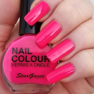 lak na nehty STAR GAZER - Neon Pink, STAR GAZER