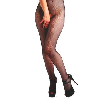 punčocháče PAMELA MANN - Fishnet Crotchless - Black, PAMELA MANN