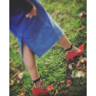 ponožky (punčochové) PAMELA MANN - Extra Large Net - Black, PAMELA MANN