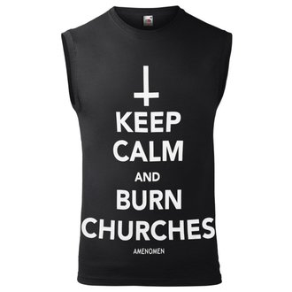 tílko pánské AMENOMEN - KEEP CALM AND BURN CHURCHES, AMENOMEN