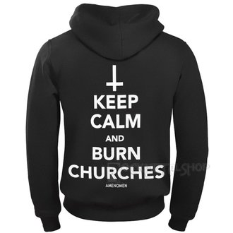 mikina pánská AMENOMEN - KEEP CALM AND BURN CHURCHES, AMENOMEN
