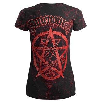 tričko dámské AMENOMEN - BELIEVE IN YOURSELF - ALLPRINT RED, AMENOMEN