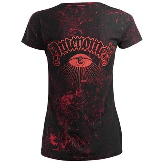 tričko dámské AMENOMEN - PENTAGRAM - RED, AMENOMEN