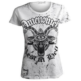 tričko dámské AMENOMEN - REST IN HELL - WHITE, AMENOMEN