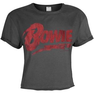 tričko dámské (top) David BOWIE - LOGO - CHARCOAL - AMPLIFIED, AMPLIFIED, David Bowie