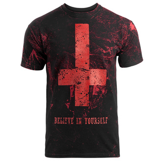 tričko pánské AMENOMEN - BELIEVE IN YOURSELF - ALLPRINT RED, AMENOMEN