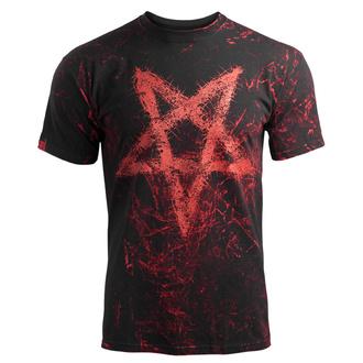 tričko pánské AMENOMEN - PENTAGRAM - RED - OMEN096KM