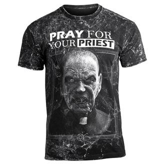 tričko pánské AMENOMEN - PRAY FOR YOUR PRIEST - WHITE, AMENOMEN