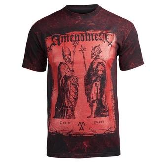 tričko pánské AMENOMEN - TWO POPES - BLACK - OMEN017KM ALLPRINT RED