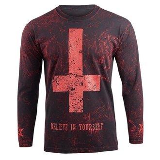 tričko pánské s dlouhým rukávem AMENOMEN - BELIEVE IN YOURSELF - RED, AMENOMEN