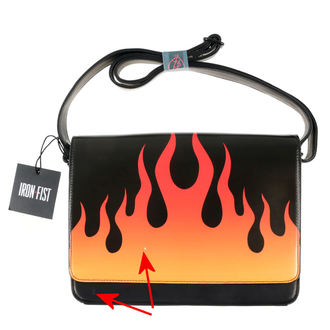 kabelka IRON FIST - Fire Sign - Black - POŠKOZENÁ, IRON FIST