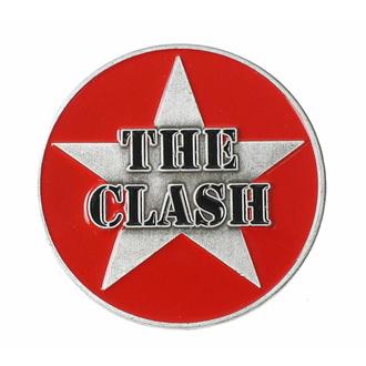 přípínáček THE CLASH - MILITARY LOGO - RAZAMATAZ, RAZAMATAZ, Clash