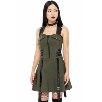 šaty dámské KILLSTAR - Psy-Ops - KHAKI - KSRA002422