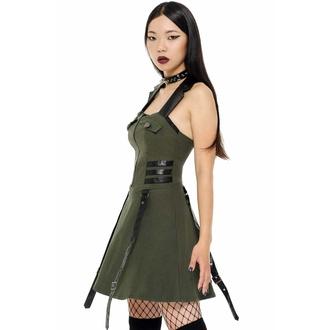šaty dámské KILLSTAR - Psy-Ops - KHAKI, KILLSTAR