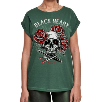 tričko dámské BLACK HEART - LIPSTICK SKULL EXT - GREEN, BLACK HEART