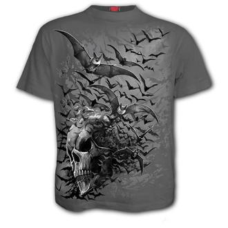 tričko pánské SPIRAL - BAT SKULL - Charcoal - E031M115