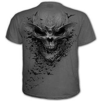 tričko pánské SPIRAL - BAT SKULL - Charcoal, SPIRAL