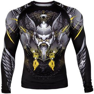 tričko pánské s dlouhým rukávem (termo) Venum - Viking 2.0 Rashguard - Black/Yellow, VENUM
