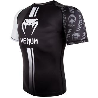 tričko pánské (termo) Venum - Logos Rashguard - Black/White, VENUM