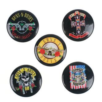 placky Guns N' Roses - Bullet Logo - RAZAMATAZ, RAZAMATAZ, Guns N' Roses
