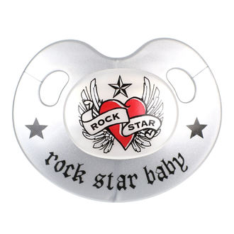 dudlík ROCK STAR BABY - Heart & Wings, ROCK STAR BABY