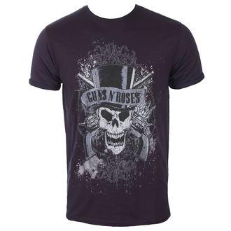 tričko pánské Guns N' Roses - Faded Skull - Navy/Red - ROCK OFF, ROCK OFF, Guns N' Roses