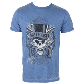 tričko pánské Guns N' Roses - Faded Skull - Mid Blue - ROCK OFF, ROCK OFF, Guns N' Roses