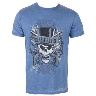 tričko pánské Guns N' Roses - Faded Skull - Mid Blue - ROCK OFF, ROCK OFF, Guns N' Roses