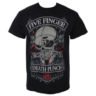 tričko pánské Five Finger Death Punch - Wicked - Black - ROCK OFF, ROCK OFF, Five Finger Death Punch