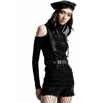 kraťasy dámské KILLSTAR - Rebel Heart Suspender - Black, KILLSTAR
