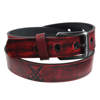 pásek Luciferi - red, Leather & Steel Fashion