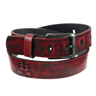 pásek Leviathan - red, Leather & Steel Fashion