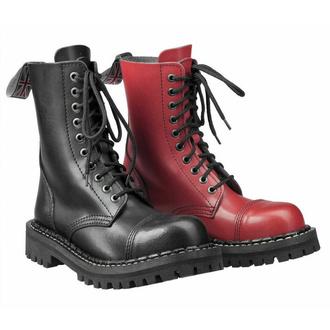 boty STEADY´S - 10 dírkové - Black red - STE/10_black/red