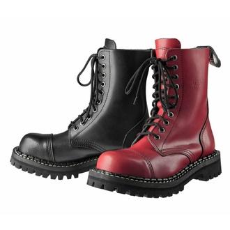boty STEADY´S - 10 dírkové - Black red, STEADY´S