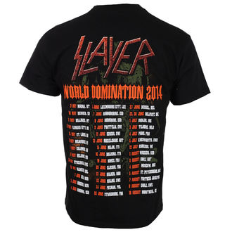 tričko pánské SLAYER - SOLDIER CROSS 2014 DATEBACK - BLACK - ROCK OFF, ROCK OFF, Slayer